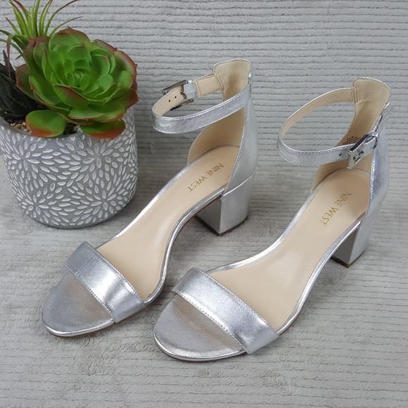 9517ba55329 Nine West Fields Block Heel Ankle Strap Sandals
